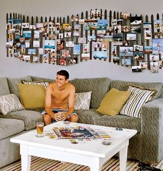 Idea for beach room/picture hang on fence