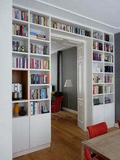Boekenkast in separatie: woonkamer door gosker ontwerp interieur architectuur | homify