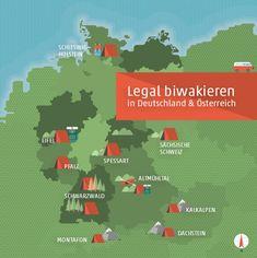 Wild und frei in der Natur zelten ist in Deutschland, Österreich nicht erlaubt. Wir zeigen euch wo's trotzdem geht!