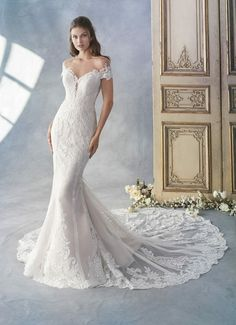 best=Style 1788 Kenneth Winston , Women and girls come to us from all over the South because we have thousands of formal gowns from the top designers in the bridal, pageant, and prom worlds stocked floor to ceiling Off Shoulder Wedding Dress, Fit And Flare Wedding Dress, Fall Wedding Dresses, Wedding Dress Styles, Designer Wedding Dresses, Bridal Dresses, Wedding Gowns, Bridesmaid Gowns, Wedding Attire
