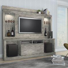 Estante Home Theater Para TV hasta 55 Pulgadas Pegasus ValdeMóviles Onix Medidas: altura 197 cm. largo 217 cm. profundidad 44cm