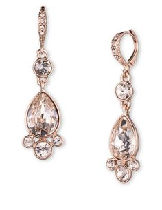 GIVENCHY Bayside Silk Stone Double Drop Earrings WEB ID #:0100-60380874 $52.00