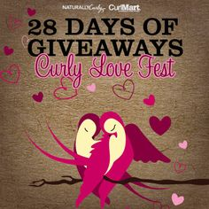 I just entered 28 Days of Giveaways Curly Love Fest  to win some amazing curly hair prizes on NaturallyCurly.com! You should enter too. It's easy, click here: http://www.naturallycurly.com/giveaways/NC-CurlyLoveFest-Giveaway-Feb14/st/52fd115d0b73b3.45674359