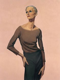 John Currin, Skinny Woman, 1992. Oil on linen, 50 1/8 × 38 1/16 in. (127.3 × 96.7 cm). Whitney Museum of American Art, New York; purchase ...