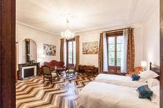 Romantic guest room at Manoir de la Manantie luxury bed and breakfast in Auvergne