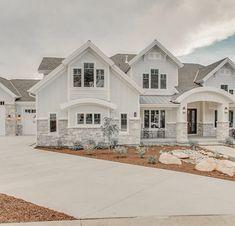 Dream House Exterior, Dream House Plans, House Exteriors, Dream Home Design, My Dream Home, Dream Life, Luxury Homes Dream Houses, Cute House, Sims House