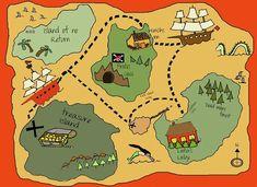 Printable Pirate Treasure Maps For Kids