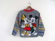 25% OFF STOREWIDE! Vintage Mickey and Minnie Mouse Sweater size XS on Etsy, $26.00
