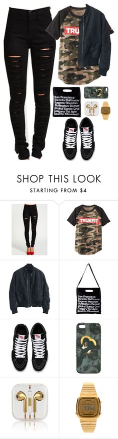 """""""My type of party // Dom Kennedy"""" by idcmyaa ❤ liked on Polyvore featuring Trukfit, American Apparel, Vans, Givenchy, Casio, women's clothing, women, female, woman and misses"""