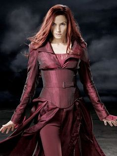 Jean Grey - Famke Janssen...- umm, i believe the correct name is Phoenix at this point technically not Jean Grey.
