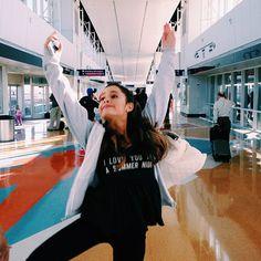 Ariana Grande being a dork. :) <3
