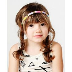 Studded headband w/ pigtails = cute!