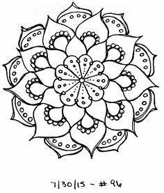 #96 - Sketchbook : 100 Mandalas Challenge Week 15 - KitsKorner.Com