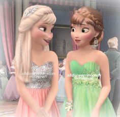 Anna and Elsa Since so many others were making prom edits, I thought I might as well Do you prefer Elsa or Anna in this edit? Disney Princess Fashion, Disney Princess Quotes, Disney Princess Drawings, Disney Princess Pictures, Disney Pictures, Cute Disney, Disney Girls, Elsa Moderna, Modern Disney Characters