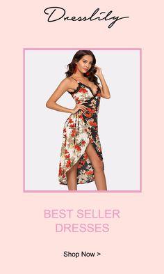 997495e5195 Spaghetti Strap Floral Print Front Slit Dress.Extra 12% off code DL123   dresslily