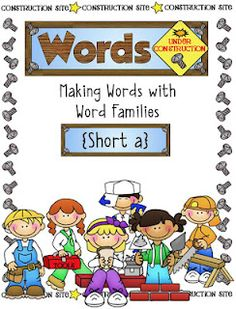 'short a' pack -words under construction word family pack $4.99