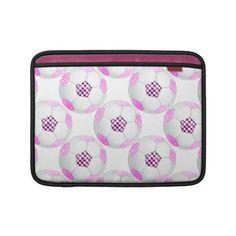 Pink and Black Disco Soccer Ball MacBook Sleeves.  http://www.zazzle.com/pink_and_black_disco_soccer_ball-205702970901331803?rf=238575087705003771