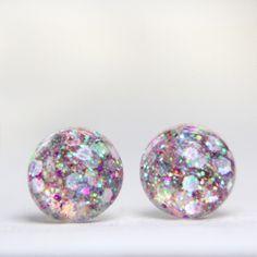 Pink Globe Earrings