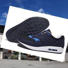 new products 29ec7 ceca3 Men Nike Air Max 1 Essential Black Midlightblauw Deep Skyblauw. vandermandy  · SHOES