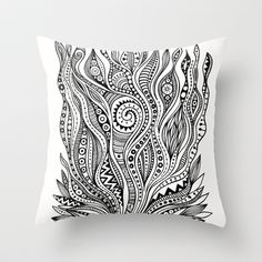 jungle Throw Pillow by Foundinaforest - $20.00    Society 6 has awesome throw pillows!!!