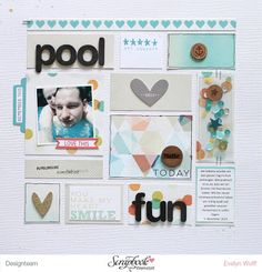 Pool Fun | Layout mit dem Juli-Kit der Scrapbook Werkstatt von EvelynLaFleur