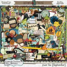 September means back to school for most of us and Just {Us} September by Wendy Tunison Designs is chock full of everything you'll need to scrap those special moments.
