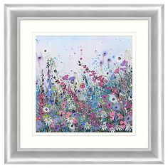 Buy Jane Morgan - Wild Flower Sparkle 2 Embellished Framed Print, 71 x 71cm Online at johnlewis.com