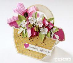 goscrap.plKoszyk kwiatów // A Flower Basket » goscrap.pl