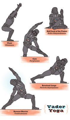 Quand les personnages de Star Wars font leurs Yoga