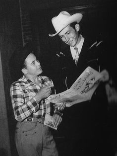 Hank Williams & Little Jimmy Dickens Old Country Music, Outlaw Country, Country Music Artists, Country Music Stars, Country Men, Country Singers, Music Icon, Art Music, Jimmy Dickens