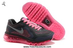 femmes nike air max 2014 charcoal rose running chaussures