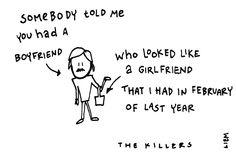 The Killers. Somebody told me. 365 illustrated lyrics project, Brigitte Liem.