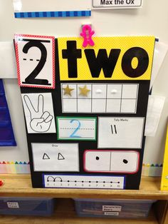 Numeral idea for focus wall or calendar.