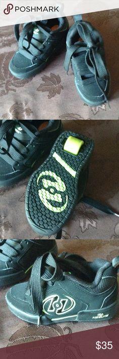 Shoes-Heelys Heels. Black sneakers with roller heels. Barely worn. Heelys Shoes Sneakers