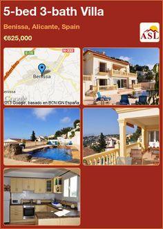 5-bed 3-bath Villa in Benissa, Alicante, Spain ►€625,000 #PropertyForSaleInSpain