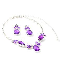 Bridal Wedding Party Silver Amethyst Teardrop Pear Shape Rhinestones with Leaf Shape Dangle Necklace & Matching Dangle Earrings Jewelry Set Topwholesalejewel,http://www.amazon.com/dp/B00E67H78G/ref=cm_sw_r_pi_dp_2Dx.sb0M9H2870GE