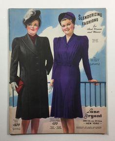 Lane Bryant Slenderizing Fashion Catalog. dated 1941. 102 pages. lots of fashion illustrations! Catalog looks new! | eBay!