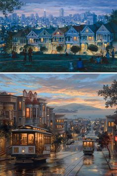 "In his series of San Francisco paintings, Russian artist Evgeny Lushpin explores the sparkling sights of the ""City by the Bay."""