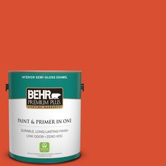BEHR Premium Plus 1-gal. #190B-7 Fire Island Zero VOC Semi-Gloss Enamel Interior Paint