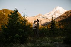 Engagement photos on the back side of Mt. Hood off of tiny backroads near Lolo Pass Road.