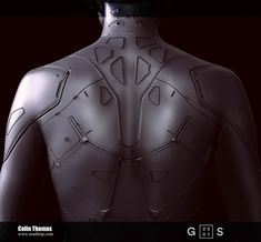 ArtStation - Ghost-In-The-Shell Cyborg body, Colin Thomas