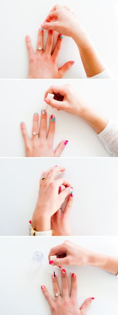Rollin' with another nail DIY because V-Day is right around the corner and I needed an excuse to share these insanely cool cat cards. But seriously, this color block Nail Art Diy, Diy Nails, Manicure, Beauty Makeup Tips, Diy Beauty, Color Block Nails, Fingernail Designs, Fall Nail Colors, Mac Eyeshadow