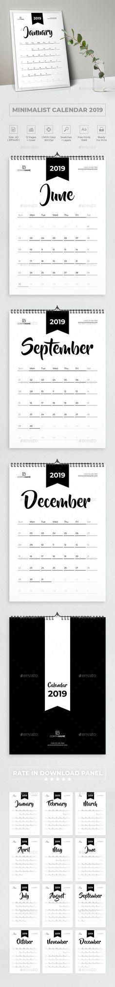 Desk #Calendar 2019 - Calendars #Stationery Calendar 2019