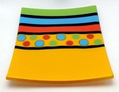 Happy Plate by artist Dyana Dulin - Andersen