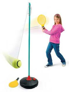 Tetherball Tennis  my kids would love this!
