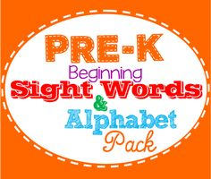 Super simple printable featuring 15 simple sight words for Pre-K, Kindergarten, and homeschoolers to build strong readers!