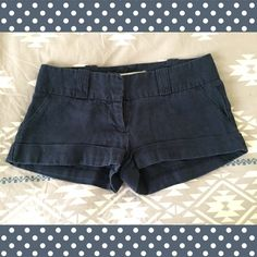 Blue linen shorts 100% linen shorts that don't fit me anymore! They're navy blue. I used to rock these puppies with canvas wedges. Can you say #legsfordays ? In great condition. Will bundle with other items if interested. Love Culture Shorts
