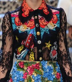 patternprints journal: PATTERNS, PRINTS, TEXTURES AND SURFACES INTO F/W 2017-18 FASHION COLLECTIONS / MILANO 4 - Dolce & Gabbana