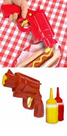 The Condiment Gun. I am pretty sure this would get me in a lot of trouble though!