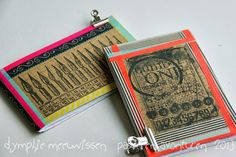 Papieren Avonturen: washi taped note books